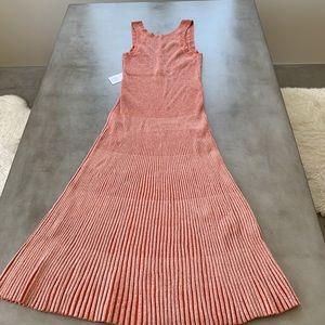 COS Heavy Knit Summer Dress in a Burnt Orange
